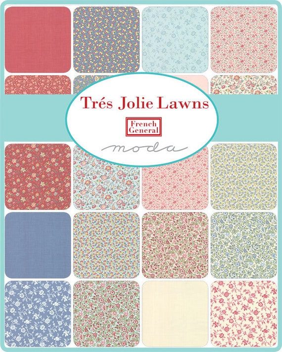 Tres Jolie Lawns by French General - Layer Cake