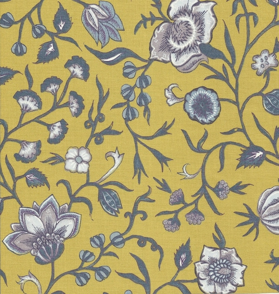 Dutch Chintz - Wilhelmina Yellow Mauve