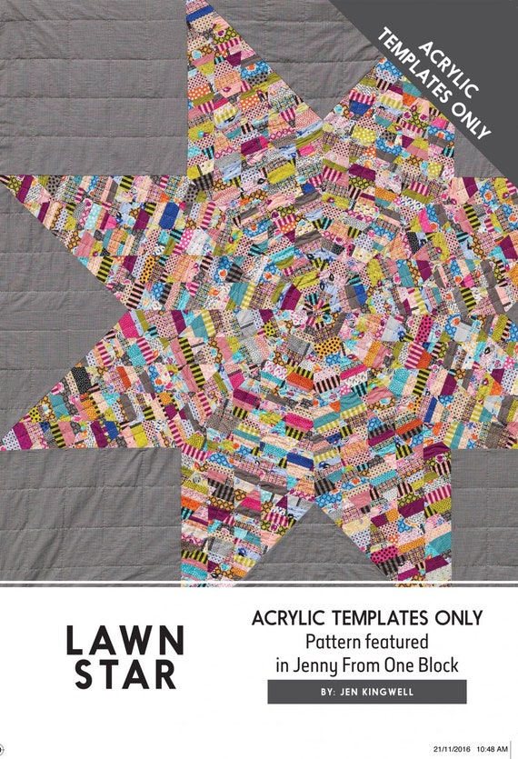 Lawn Star by Jen Kingwell - Template Only