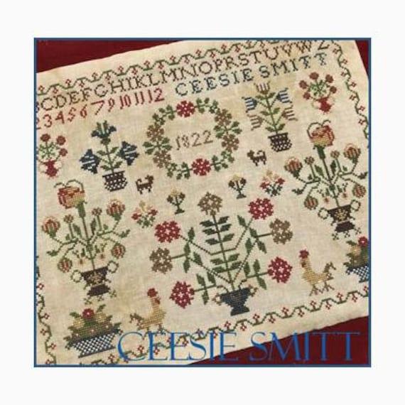 Ceesie Smitt 1822 - Scarlett House - Cross Stitch Chart