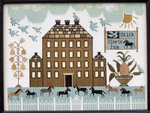 Black Horse Inn - Carriage House Samplings - Cross Stitch Chart