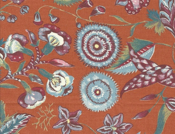 Dutch Chintz  - Marken Orange 1/2 yd