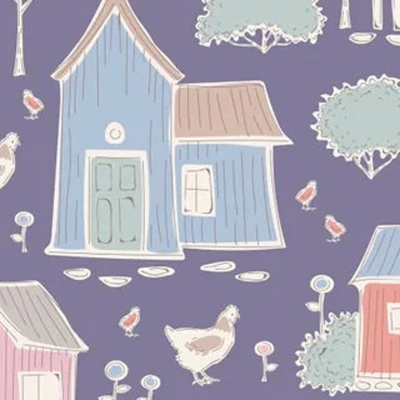 TILDA Tiny Farm - Farm Blueberry 110018 - Fat Quarter