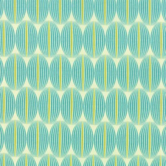 For You Lined Up Teal - 1/2yd