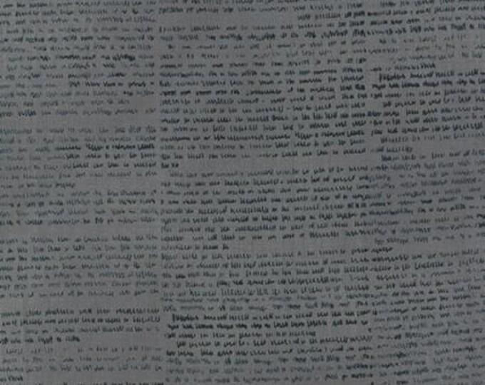 Wordsmith Text Slate Blue - 1/2yd