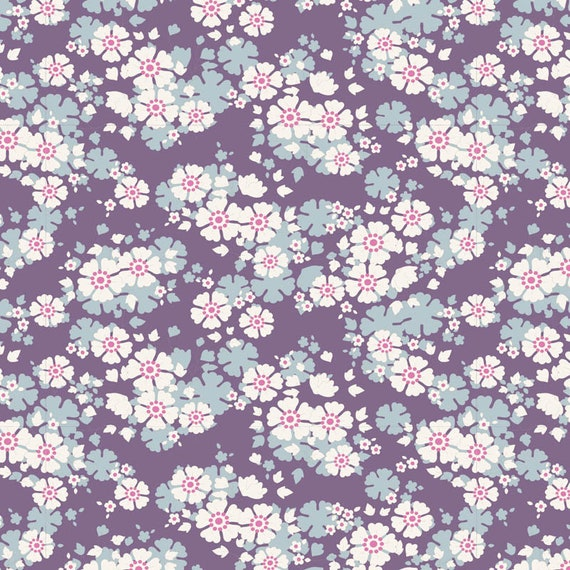 TILDA Woodland - Aster Violet 100286 - Fat Quarter