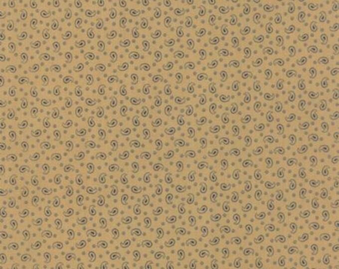 Polka Dots and Paisleys Mini Paisley Tan Blue - 1/2yd