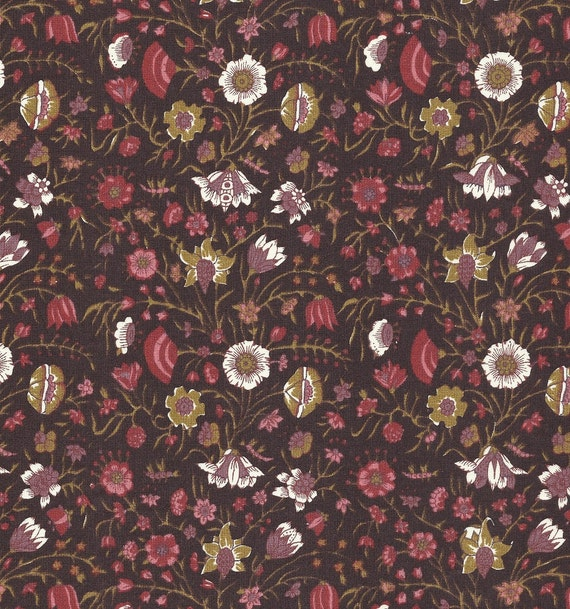 Dutch Chintz - Hindenlopen Dark Brown FQ