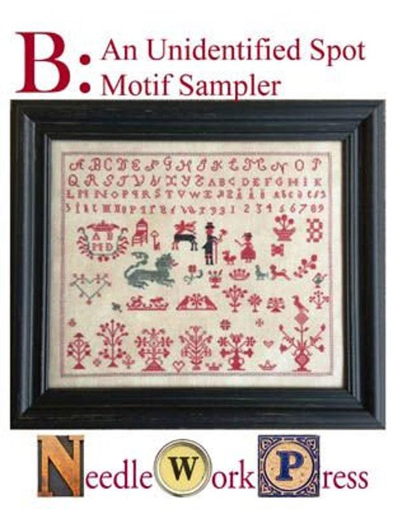 B: An Unidentified Spot Motif Sampler - NeedleWorkPress - Cross Stitch Chart