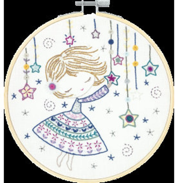 Salome in the Stars - Embroidery Kit - Un Chat dans l'Aiguille