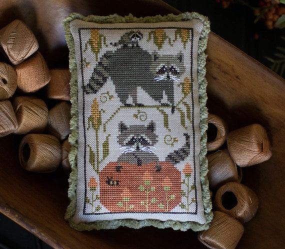 Raccoon Rabble - Plum Street Samplers - Cross Stitch Chart