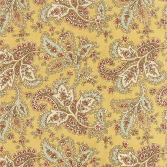 Larkspur Paisley Natural - 1/2yd
