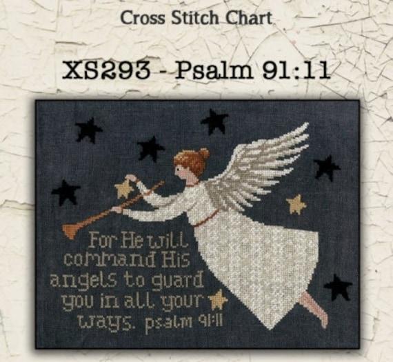 Psalm 91:11 - Teresa Kogut - Cross Stitch Chart