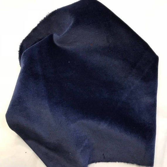 Velveteen - Navy Bean - Lady Dot Creates - 18 x 10 inches