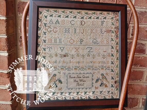 Sarah Jane Grant Deconstructed - Summer House Stitch Workes - Cross Stitch Chart