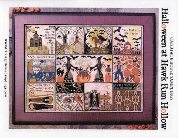Halloween at Hawk Run Hollow - Carriage House Samplings - Cross Stitch Chart
