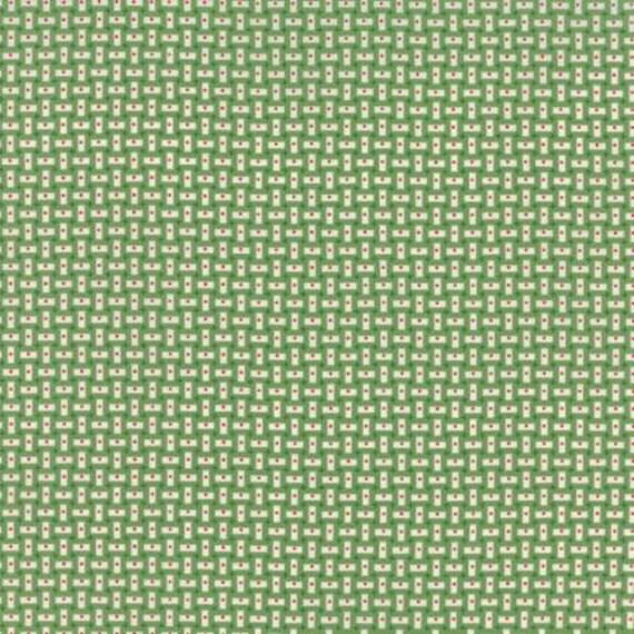 Bread n Butter Rectangles Light Green - 1/2yd