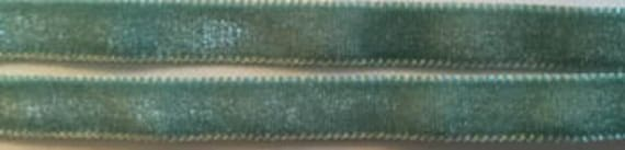 Velvet Ribbon Trim by Dames of the Needle - Sea Glass - 3 yds