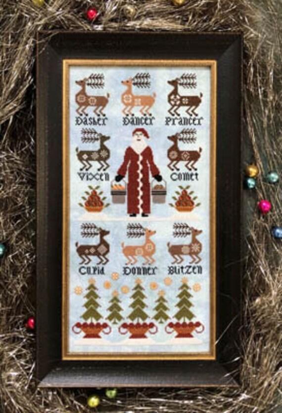 Eight Tiny Reindeer - Carriage House Samplings - Chart