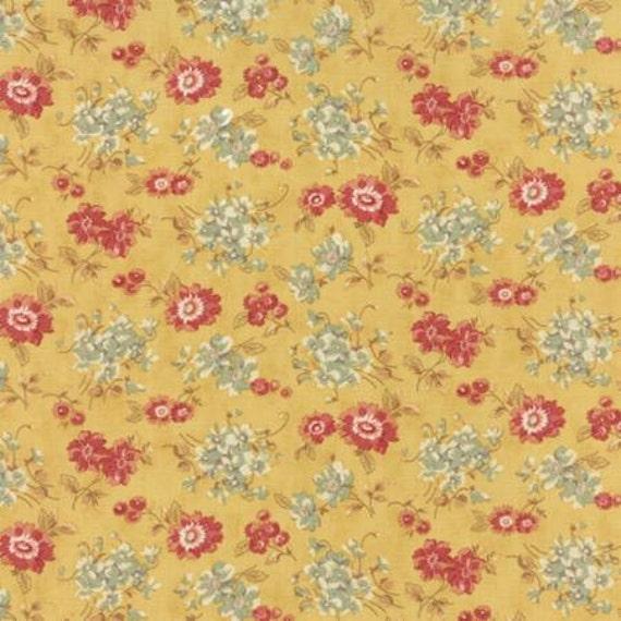 Larkspur Sweetbriar Rose  Yellow - 1/2yd