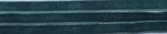 Velvet Ribbon Trim by Dames of the Needle - Michelle's Green - 3 yds