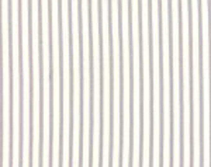 Bespoke Blooms Ticking Stripe Grey - 1/2yd