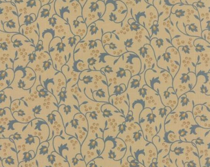 Sticks and Stones Vines and Berries Blue - 1/2yd