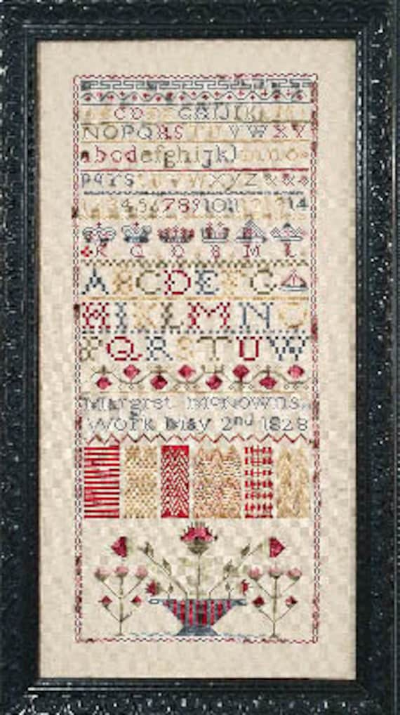 Margret McNowns 1828 - Fox and Rabbit Designs - Cross Stitch Chart