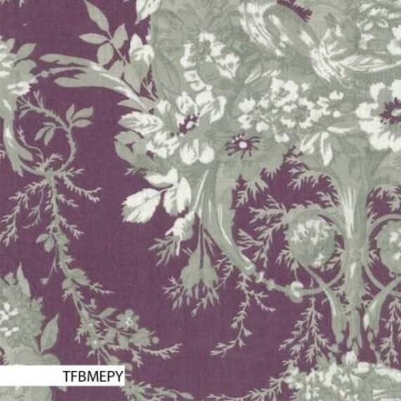 Mas d'Ousvan - Melanie Purple Grey - 1/2yd