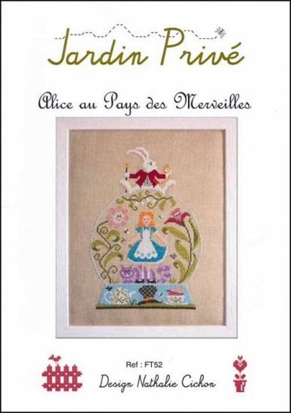 Alice in Wonderland - Jardin Prive - Cross Stitch Chart