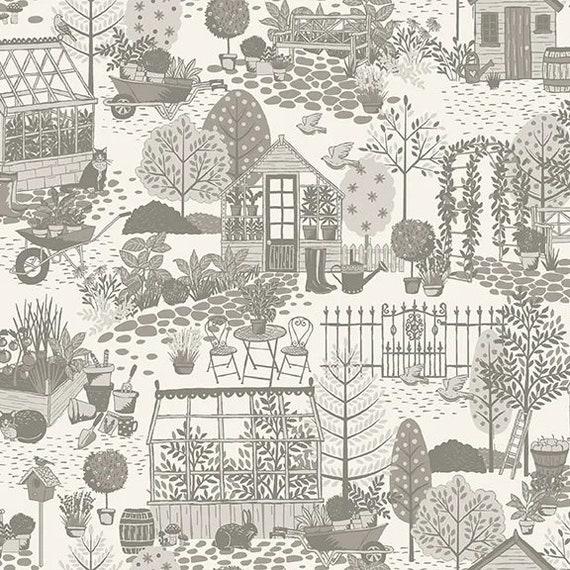 Clara's Garden 2260S - 1/2yd