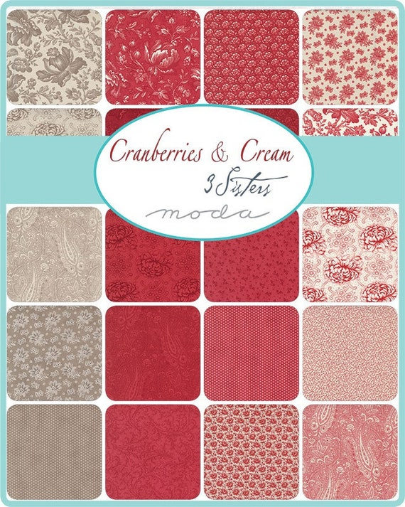 Cranberries and Cream - 3 Sisters - 34 Fat Quarters