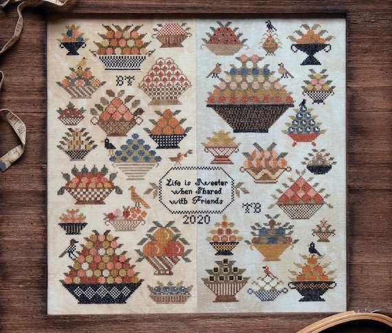 Berry Bowl Sampler - Heartstring Samplery - Cross Stitch Chart