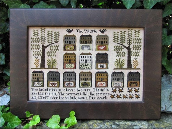 The Village - Carriage House Samplings - Chart and Beads