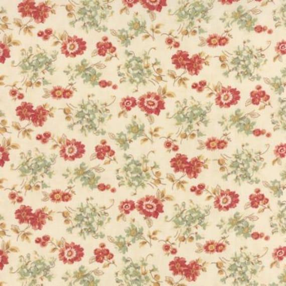 Larkspur Sweetbriar Rose  Natural - 1/2yd