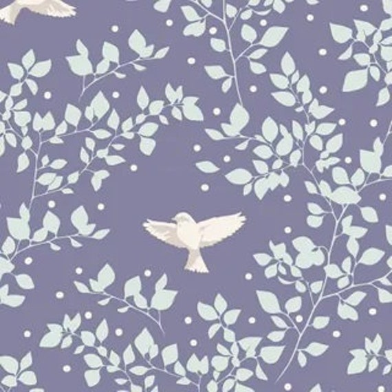 TILDA Maple Farm - Birdie Blueberry 100271 - Fat Quarter