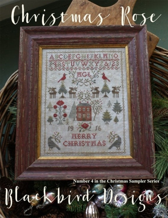 Christmas Rose - Blackbird Designs - Chart Only