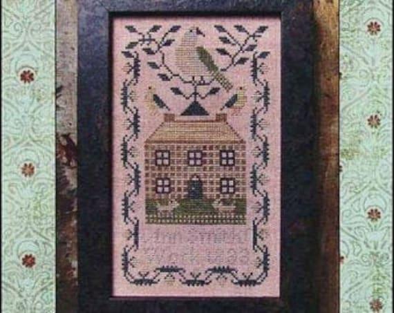 A Miniature Quaker Sampler by Kathy Barrick - Chart Only