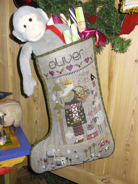 Oliver's Stocking with Charms - Shepherd's Bush - Cross Stitch Chart