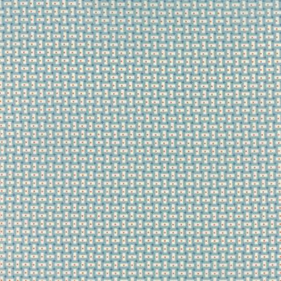 Bread n Butter Rectangles Light Blue - 1/2yd