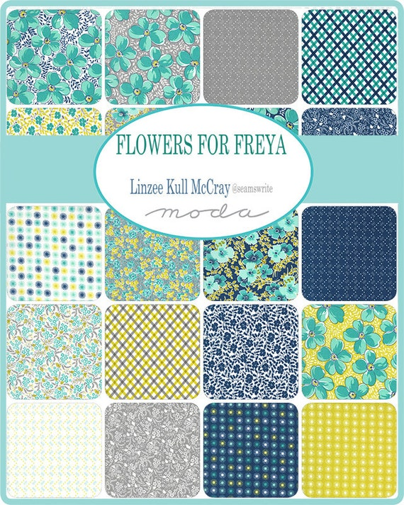 Flowers for Freya - Linzee Cull McCray - Jelly Roll