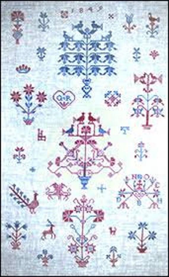 Pennsylvania Showtowel 1849 - Treasured Samplers - Cross Stitch Chart