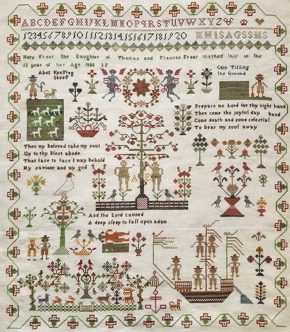 Mary Frear 1808 - Giulia Punti Antichi - Cross Stitch Chart