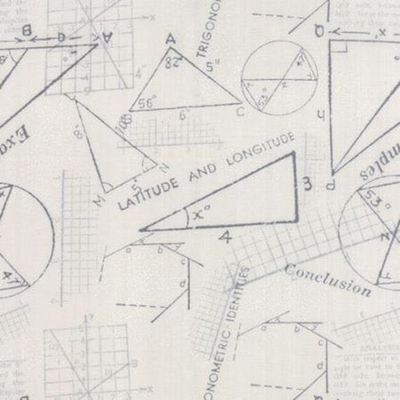 Modern BG Paper Metrics Graphite Fog - 1/2yd