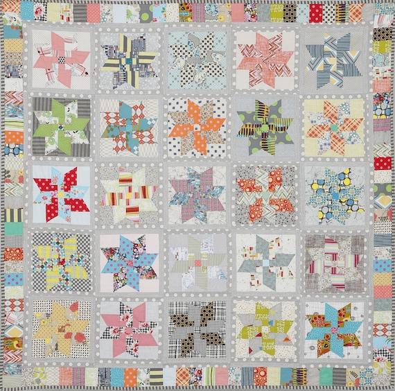 Star Dust Quilt Pattern by Jen Kingwell