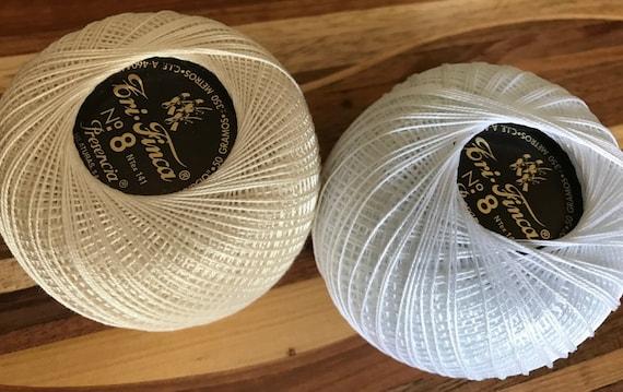 Presencia TriFinca 100% Egyptian Cotton No.5 - WHITE - 50 grams