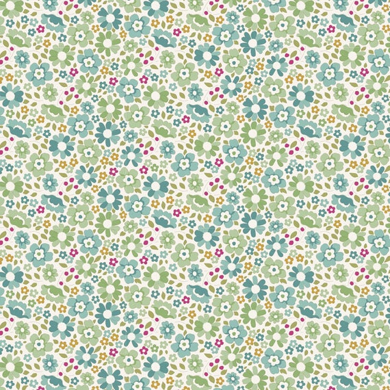 TILDA Woodland - Clara Teal 100299 - Fat Quarter