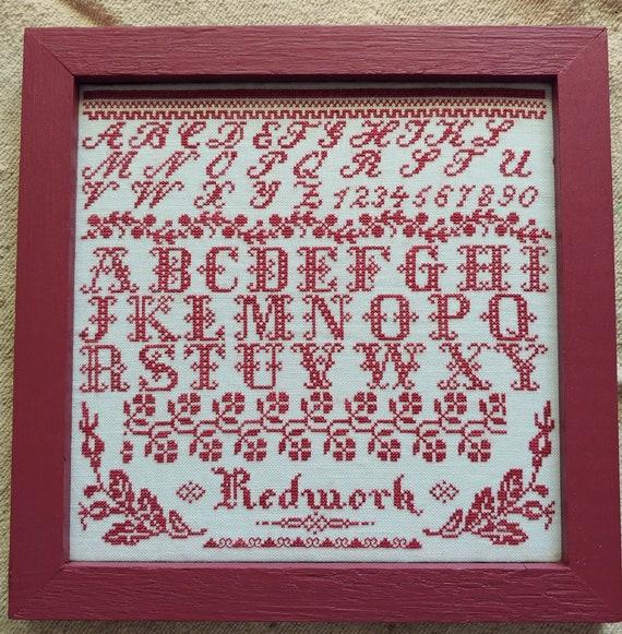 Redwork Sampler - Mojo Stitches - Cross Stitch Chart
