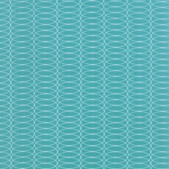For You Circulating Teal - 1/2yd