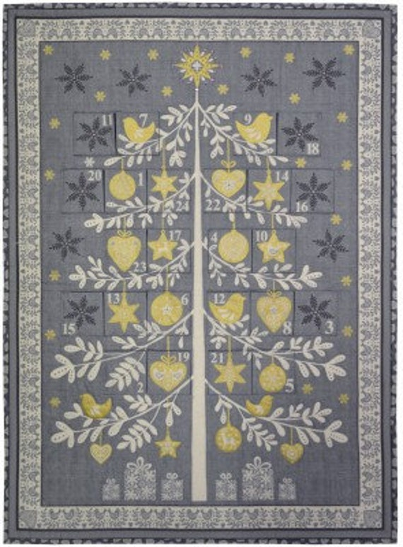 Scandi Advent Calendar 1970S - Fabric Panel